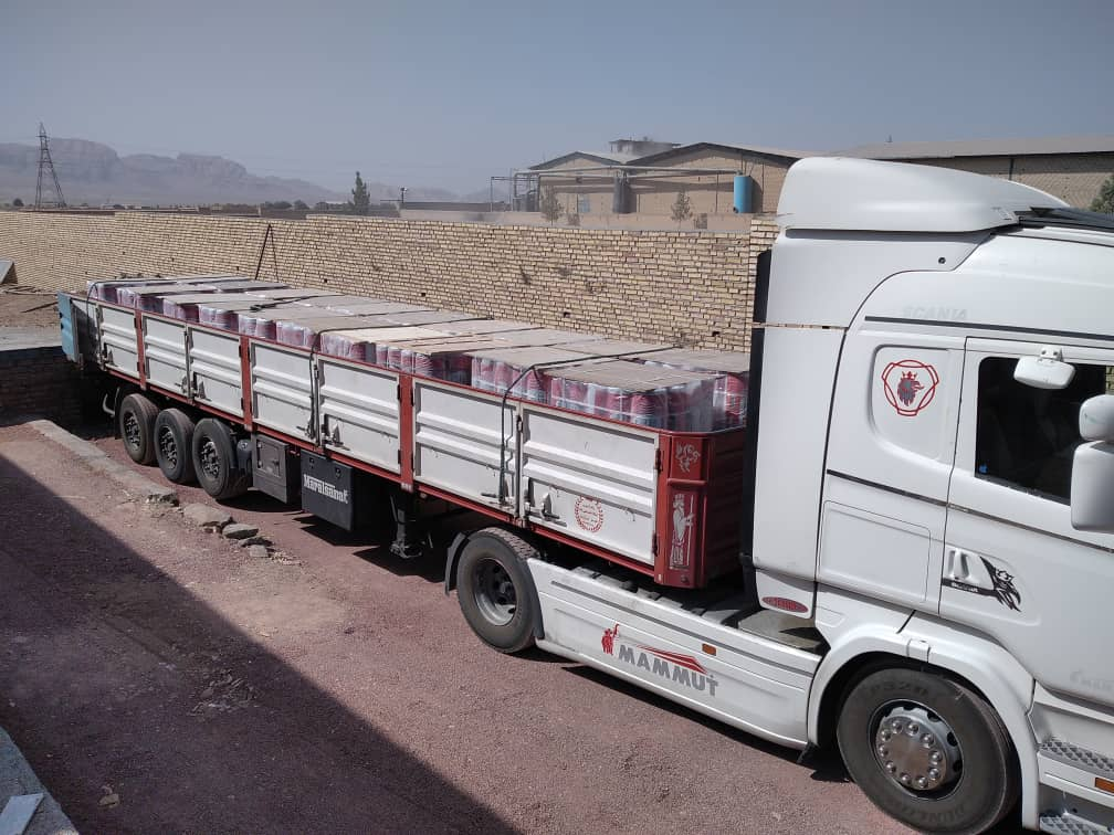حمل ایزوگام صادراتی از کارخانه