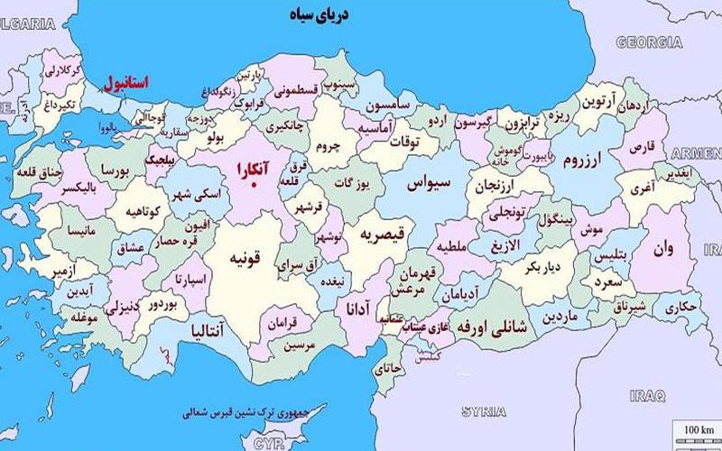 نقشه کشور ترکیه برای صادرات ایزوگام