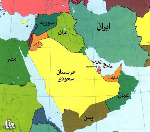 نقشه کشورهای خاورمیانه